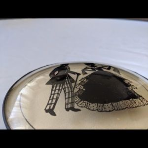 Vintage Wall Art - Reverse Silhouette picture on convex glass
